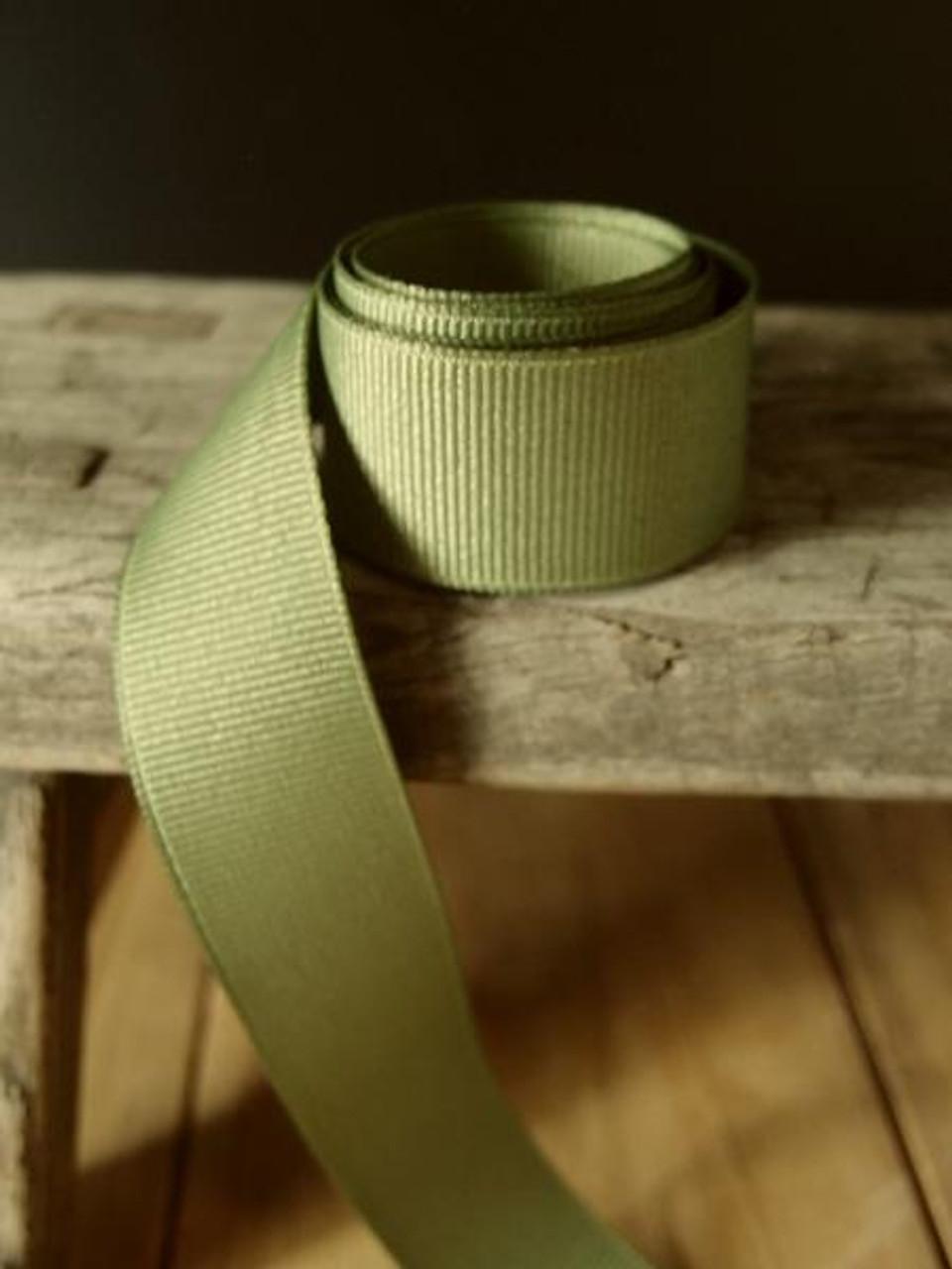 Moss Grosgrain Ribbon (4 sizes)