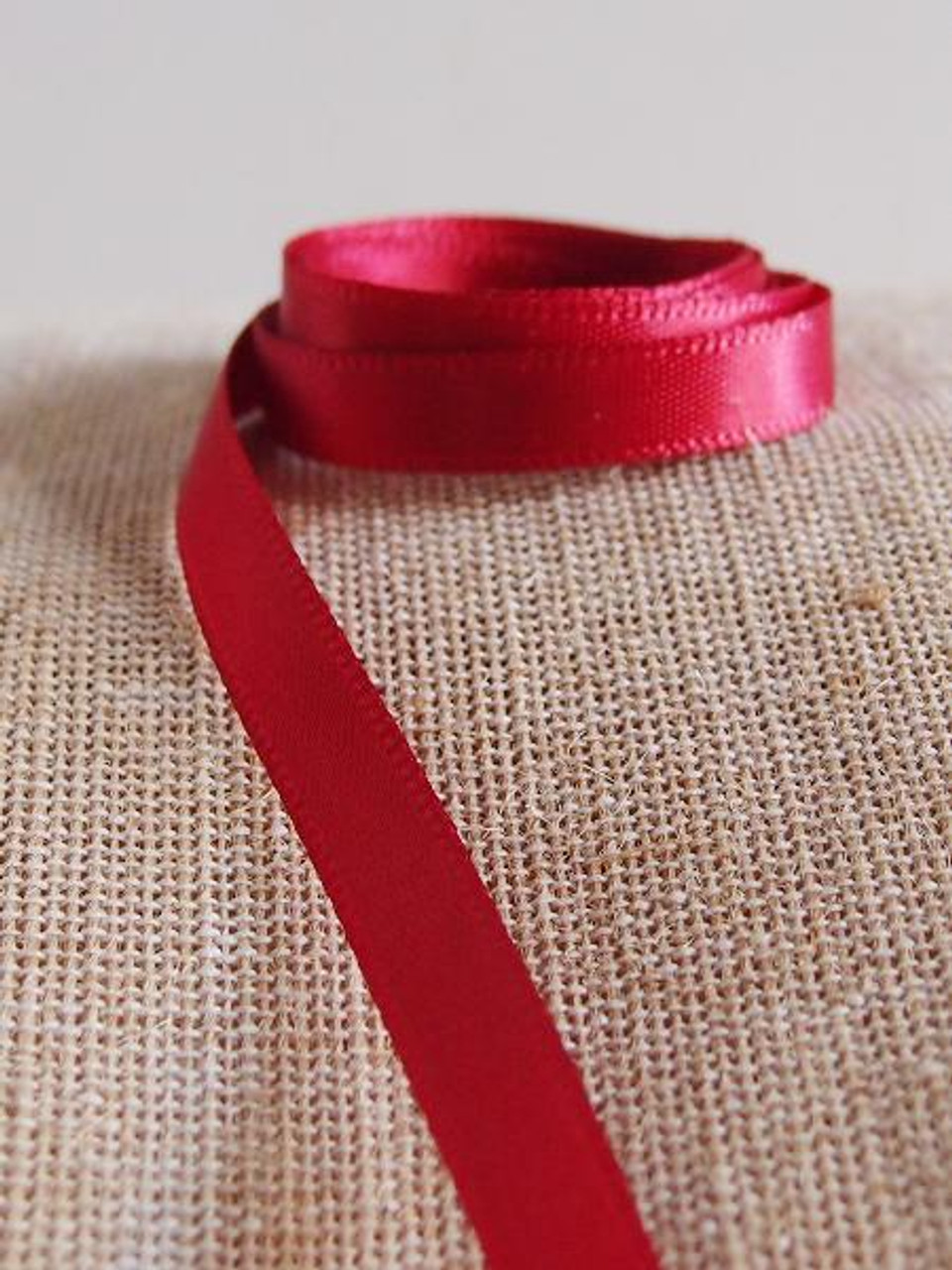 Burgundy Double Face Satin Ribbon (8 sizes)