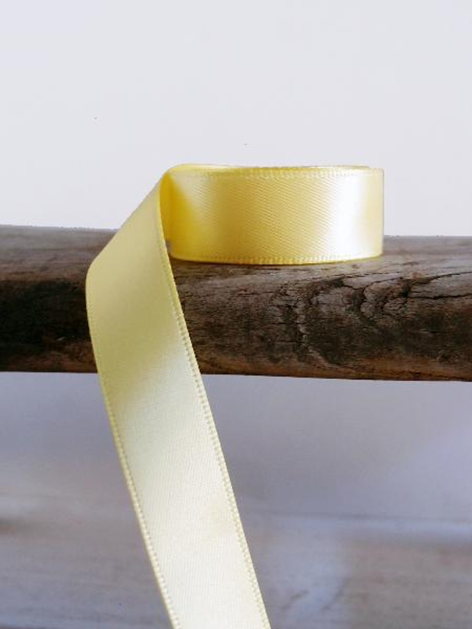 Yellow Double Face Satin Ribbon (8 sizes)
