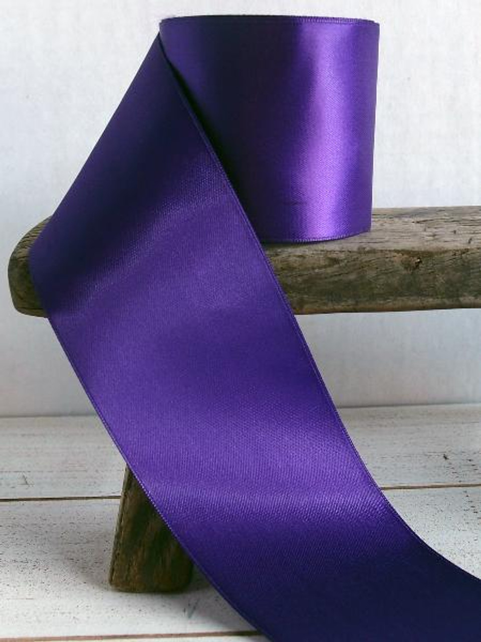 Purple Double Face Satin Ribbon (8 sizes)