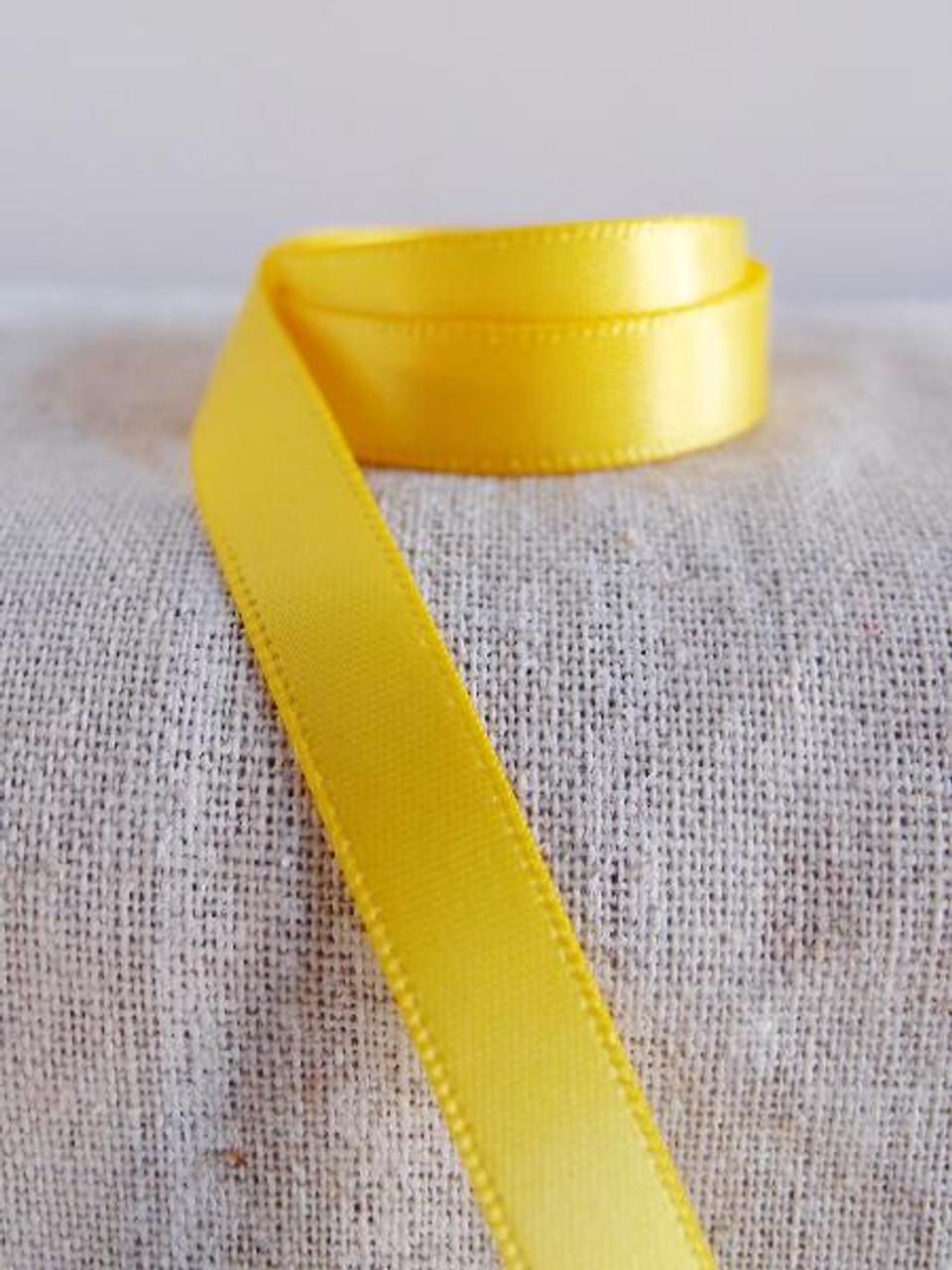 Dark Yellow Double Face Satin Ribbon (7 sizes