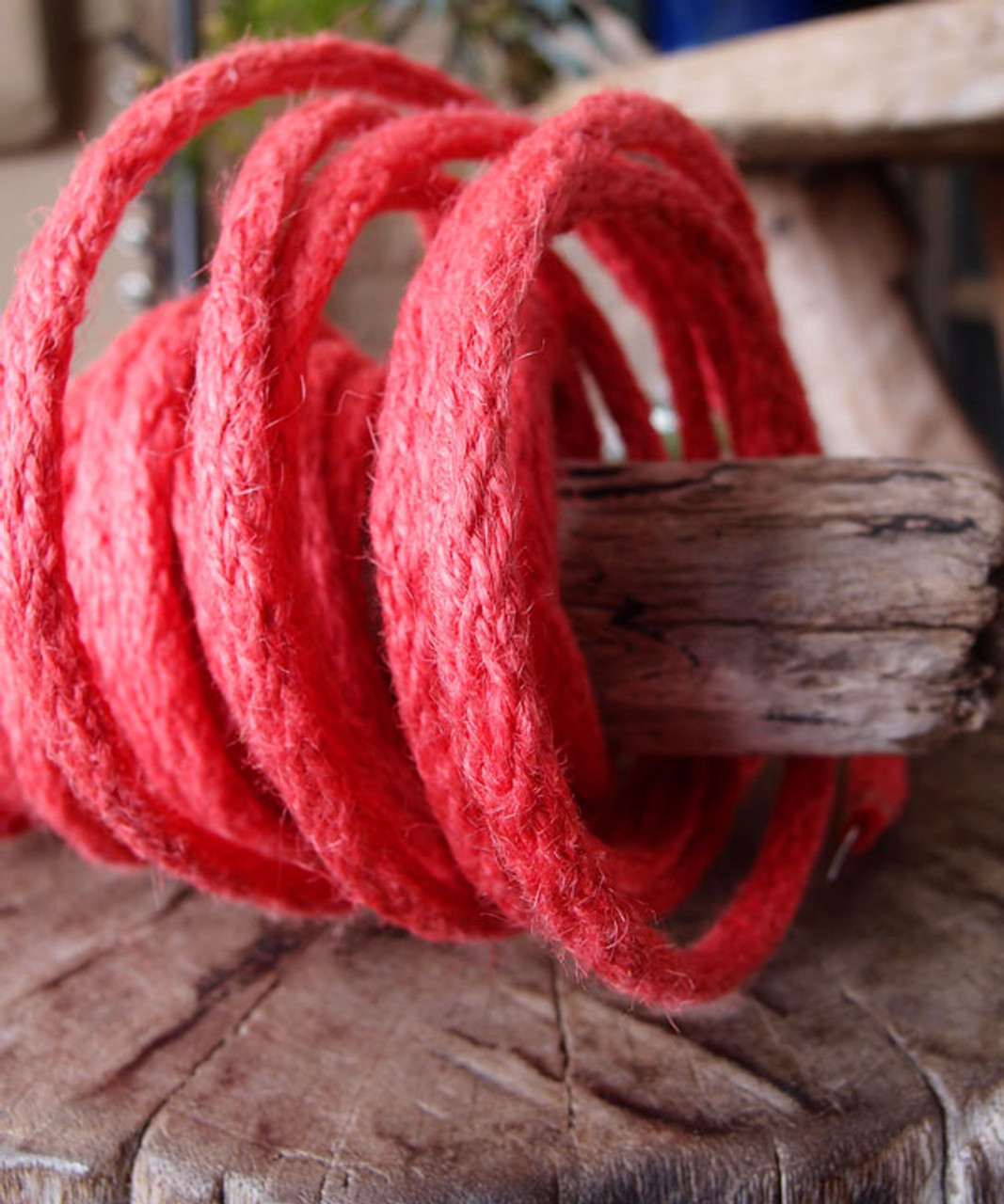 Red Jute Wired Rope