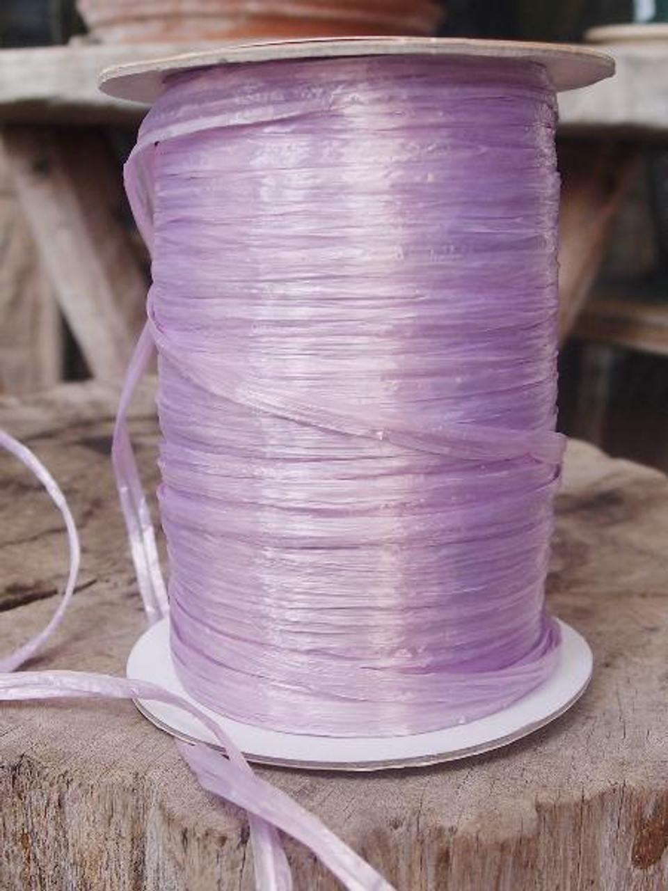 Lavender Pearlized Raffia Roll