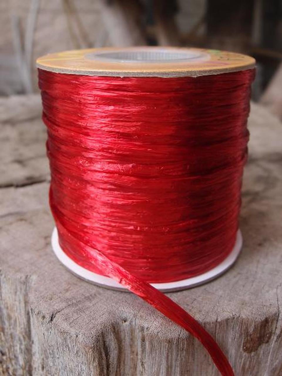 Red Pearlized Raffia Roll