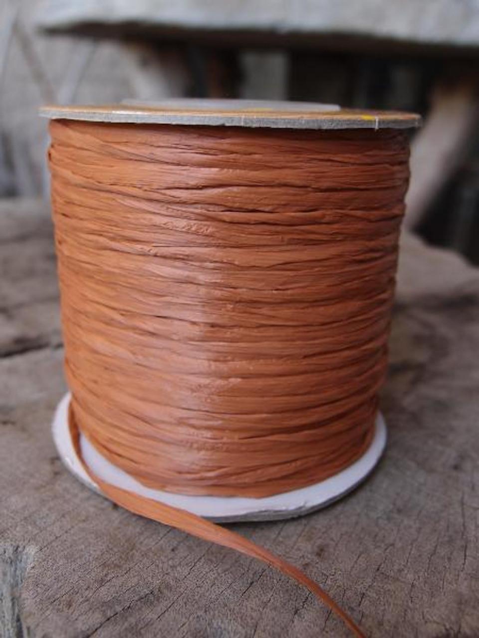 Copper Matte Raffia Ribbon