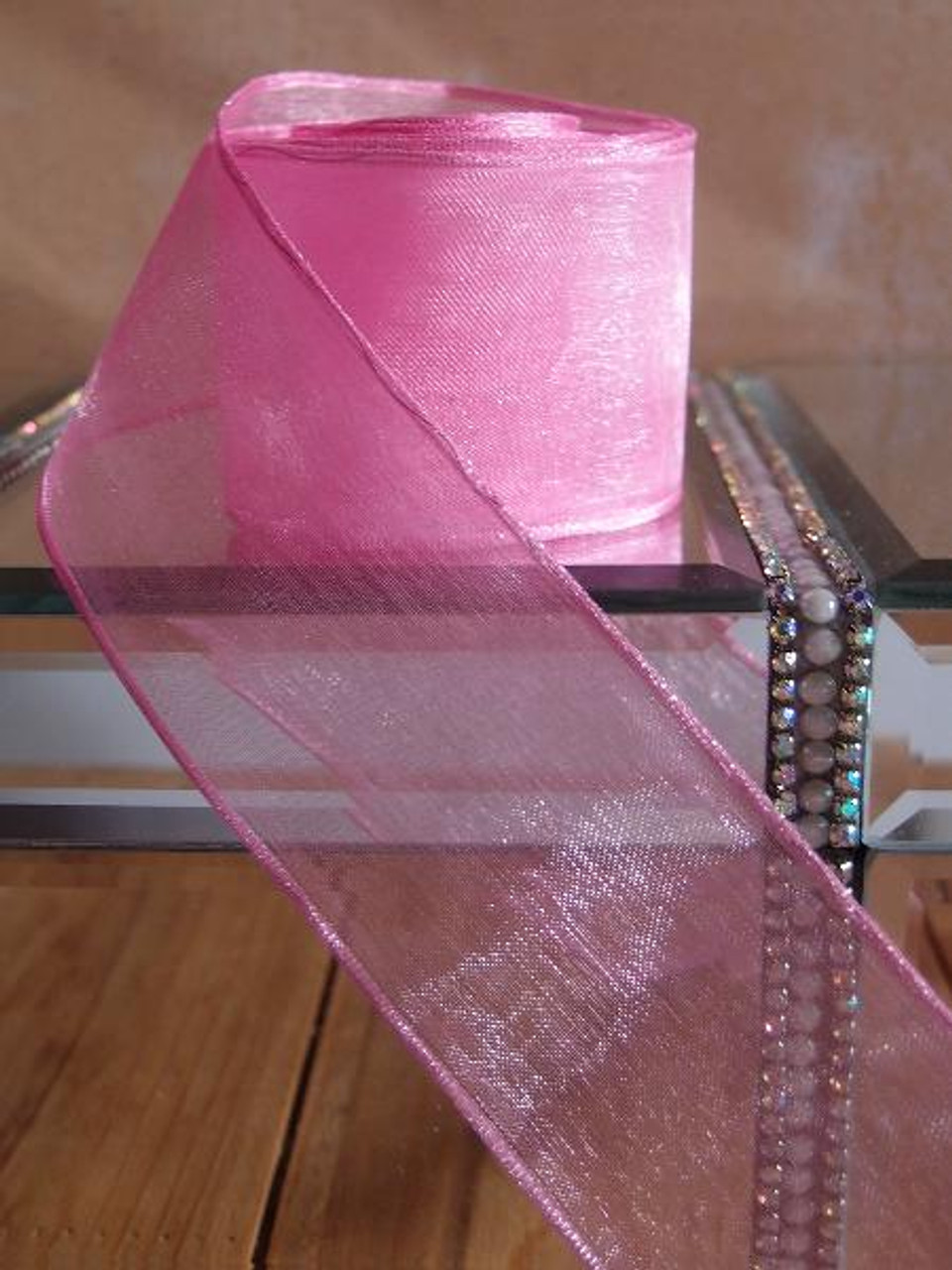 Azalea Sheer Ribbon with Wired Edge (2 sizes)
