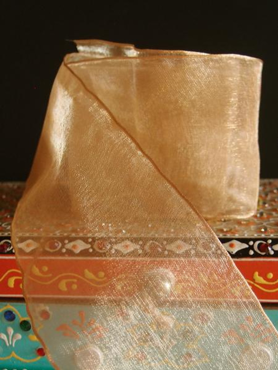 Dijon Sheer Ribbon with Wired Edge (2 sizes)