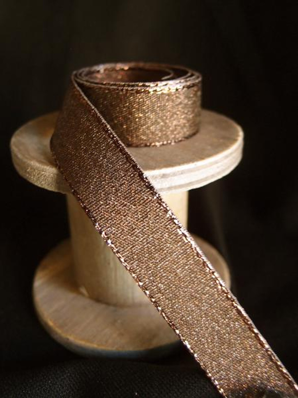 Dark Brown Shimmery Ribbon