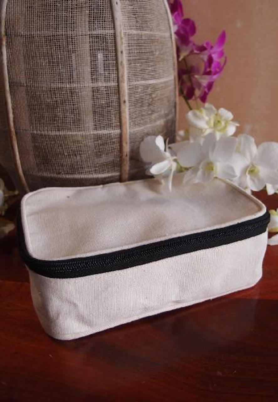 Cotton Canvas Travel Kit Bag Dopp Kit