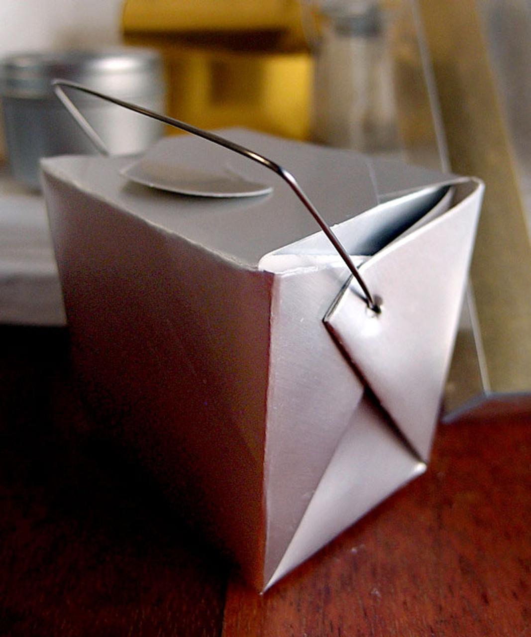 Silver Paper Take Out Box (2 sizes)