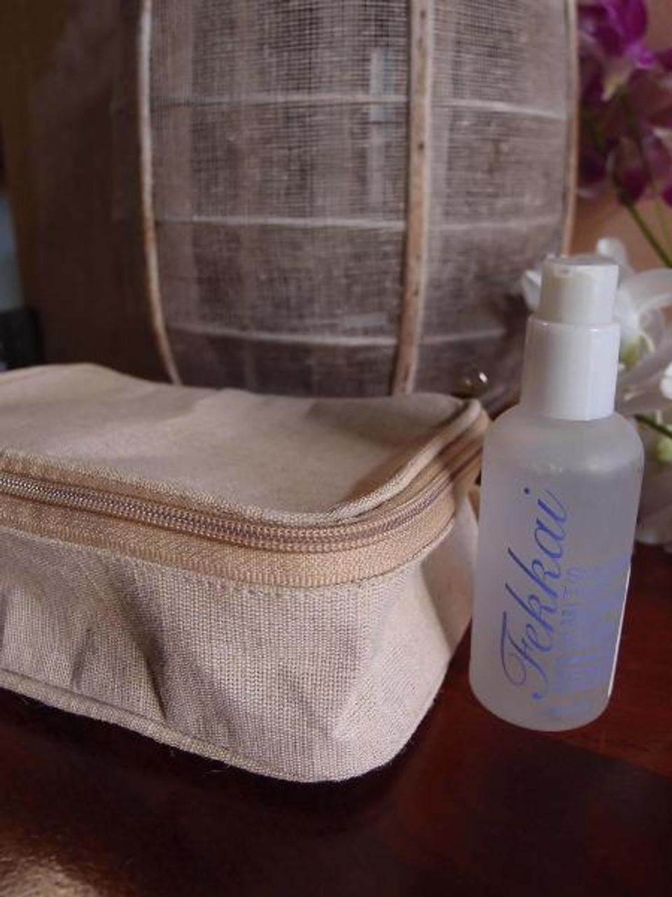 Jute Blend Travel Kit Bag Dopp Kit