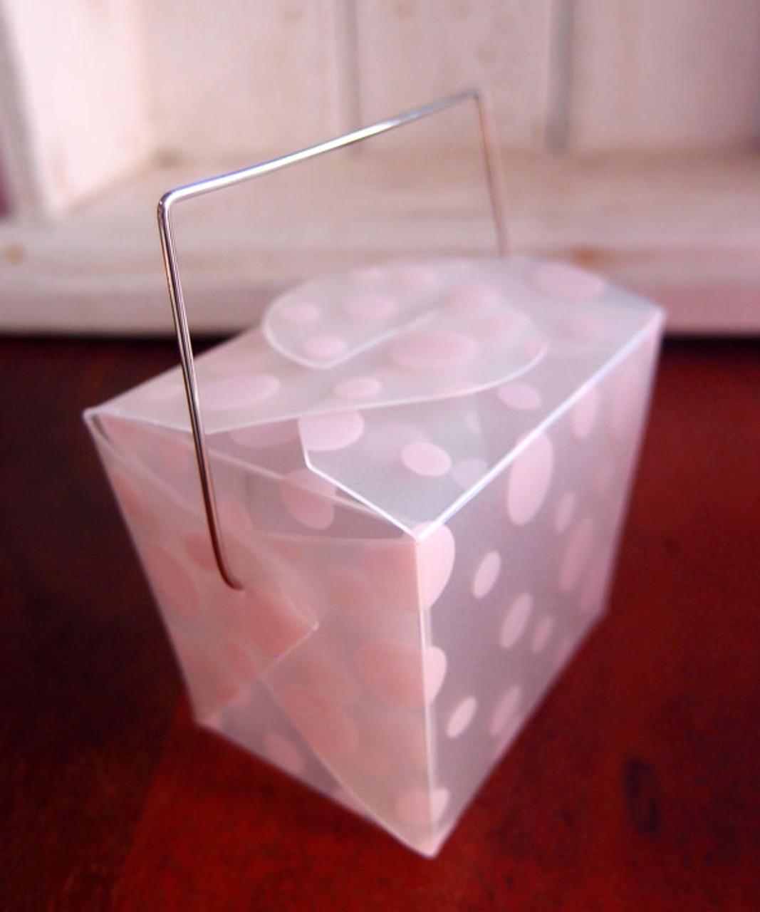 Pink Polka Dot Take Out Box (2 sizes)