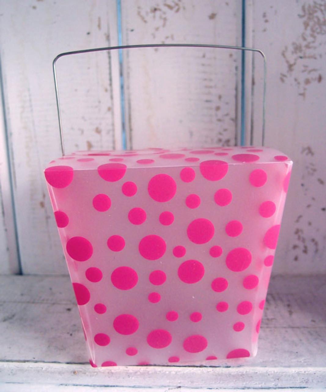 Hot Pink Polka Dot Take Out Box (2 sizes)
