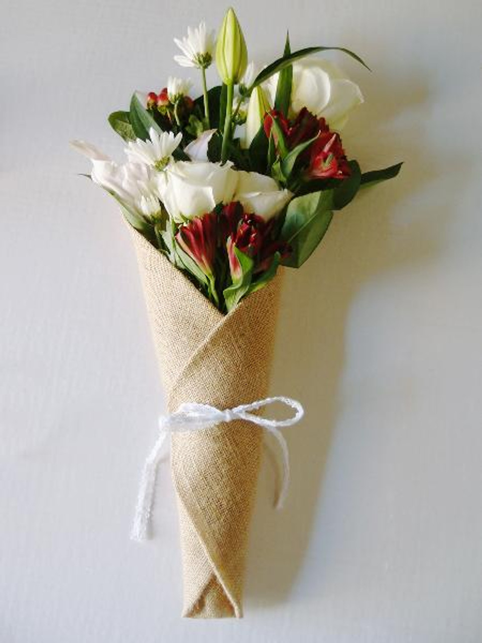 Burlap Floral Wrap with Pocket 14 x 20.75 inches, B992-21   Packaging Decor