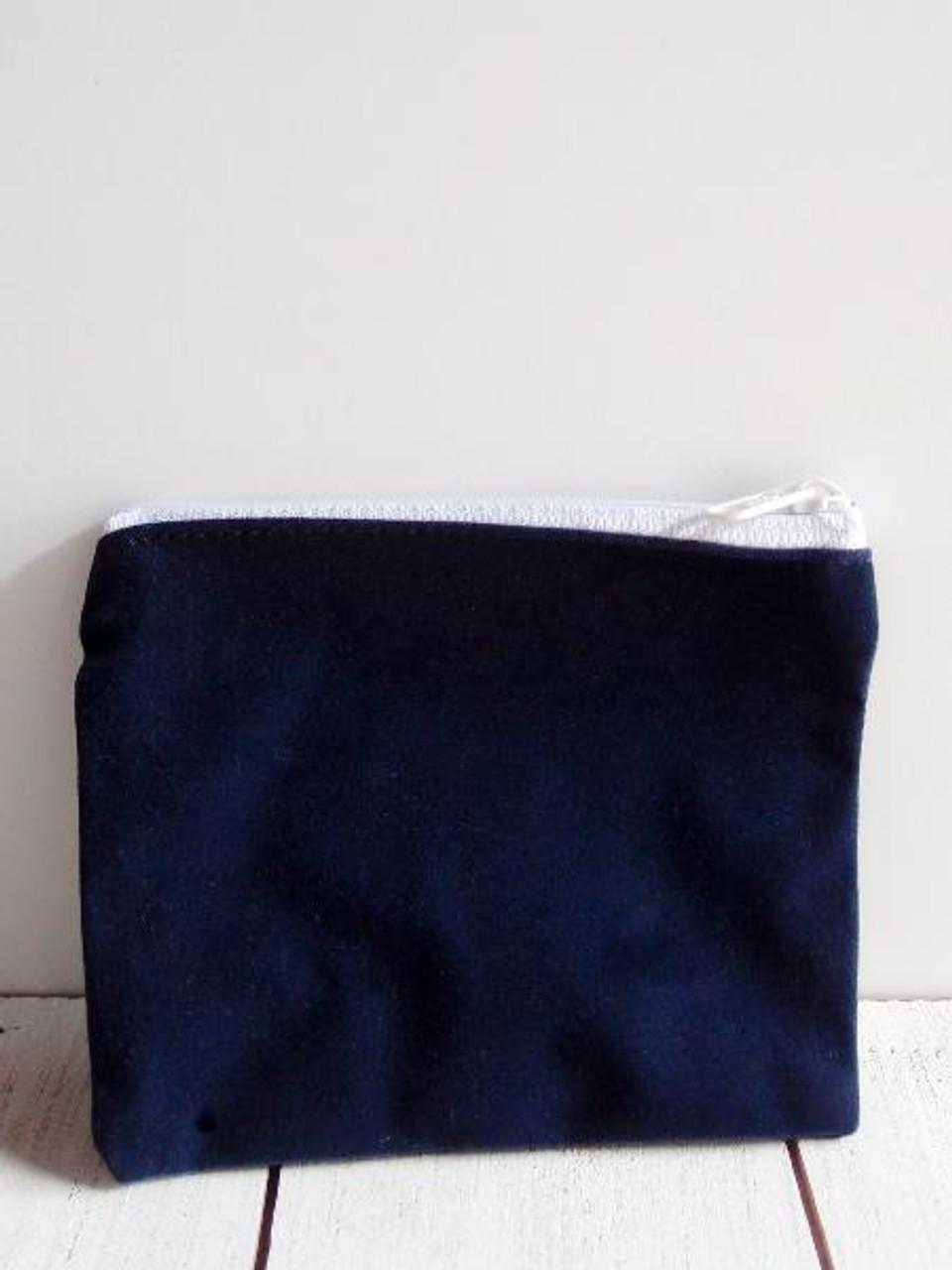 """Blue Velvet Zippered Bag 5"""" x 4"""""""