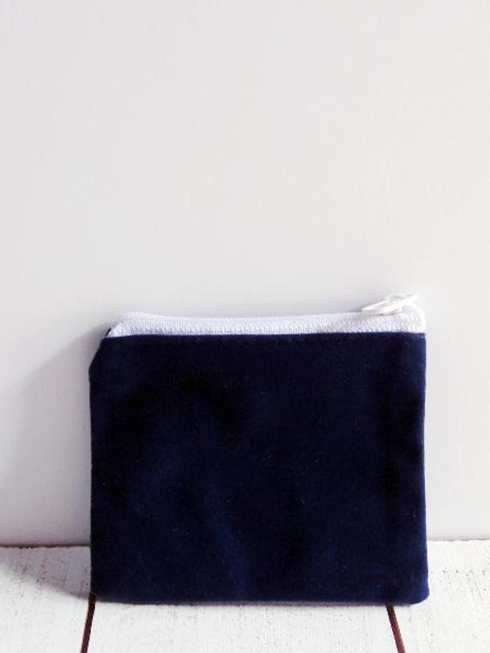 """Blue Velvet Zippered Bag 3 1/2"""" x 3"""""""