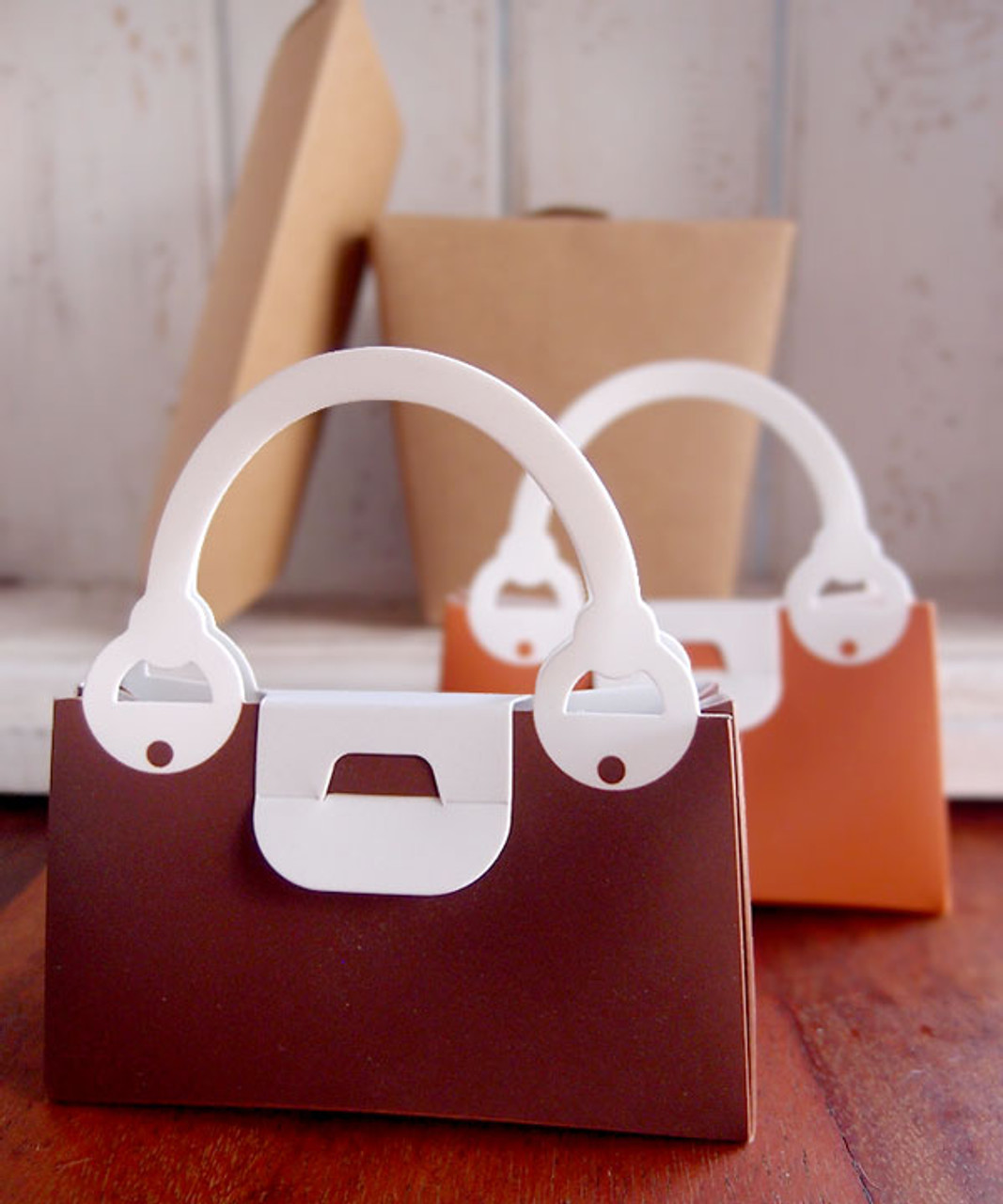 Chocolate Handbag Favor Box