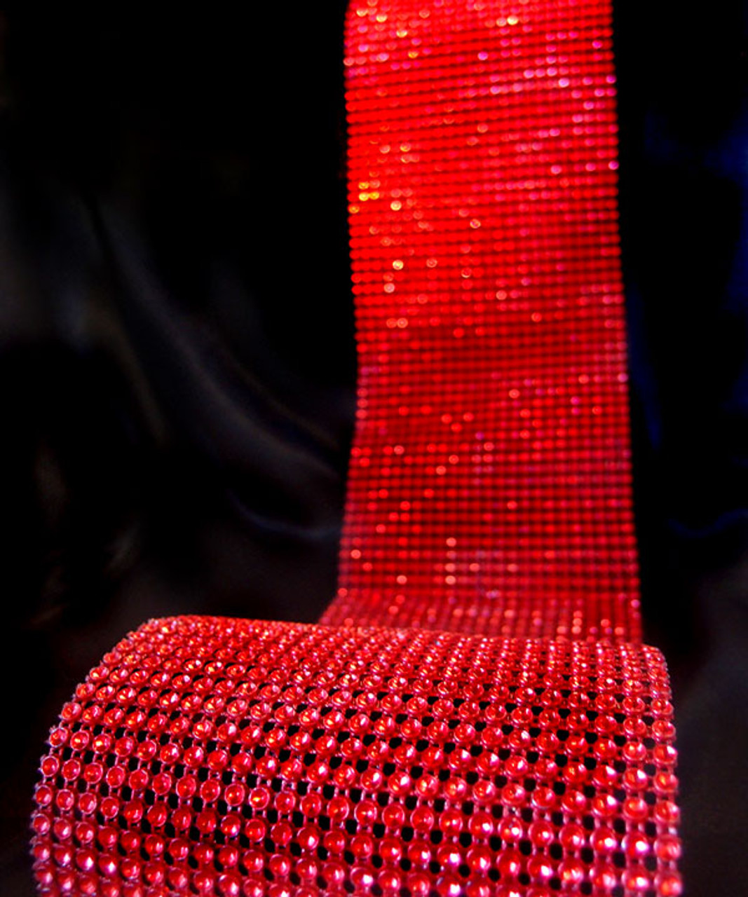 Red Diamond Wrap with Reflective Impressions