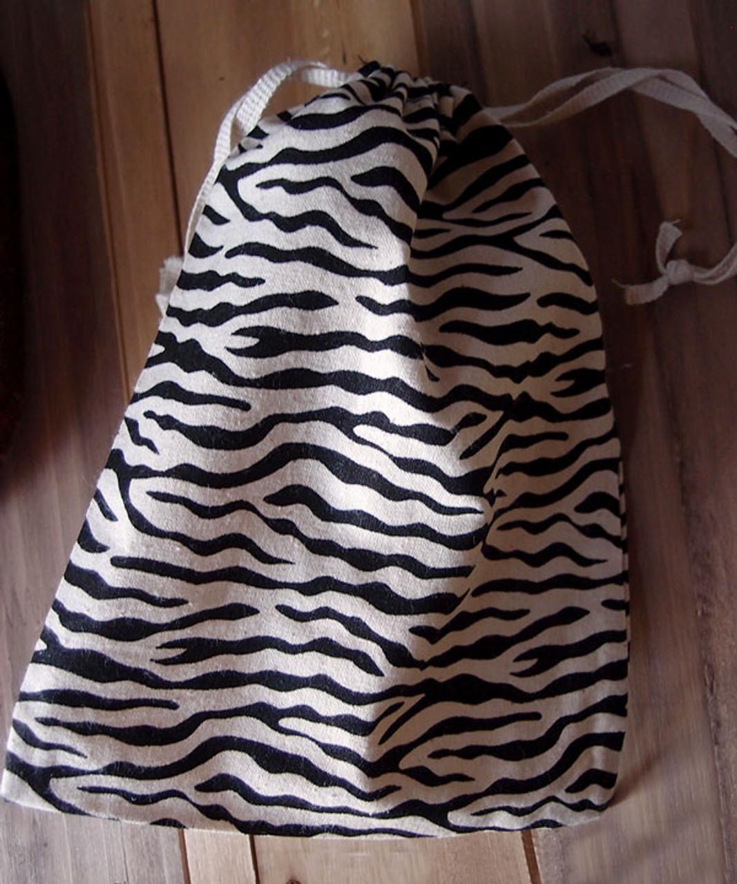 Zebra Print Cotton Bag (3 sizes)
