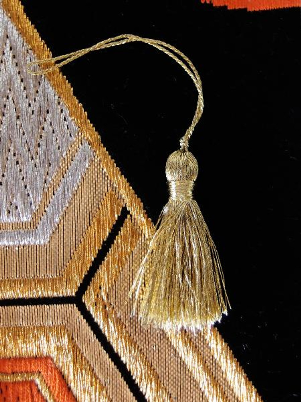 Gold Metallic Mini Tassels 1""
