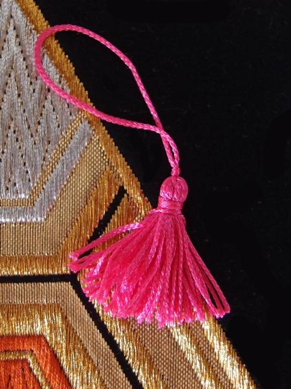 """Hot Pink Mini Tassels 1"""""""