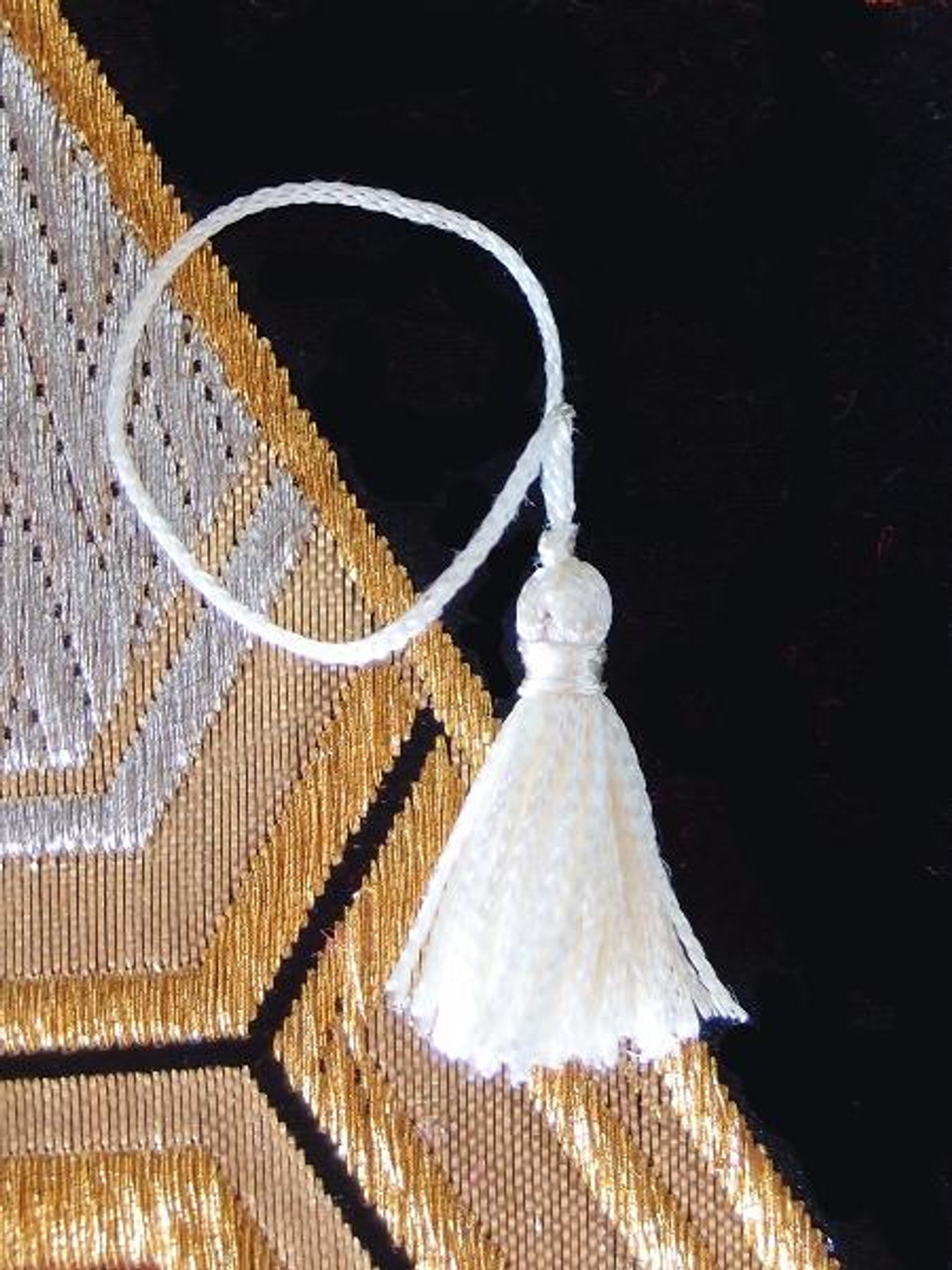 White Mini Tassels 1""