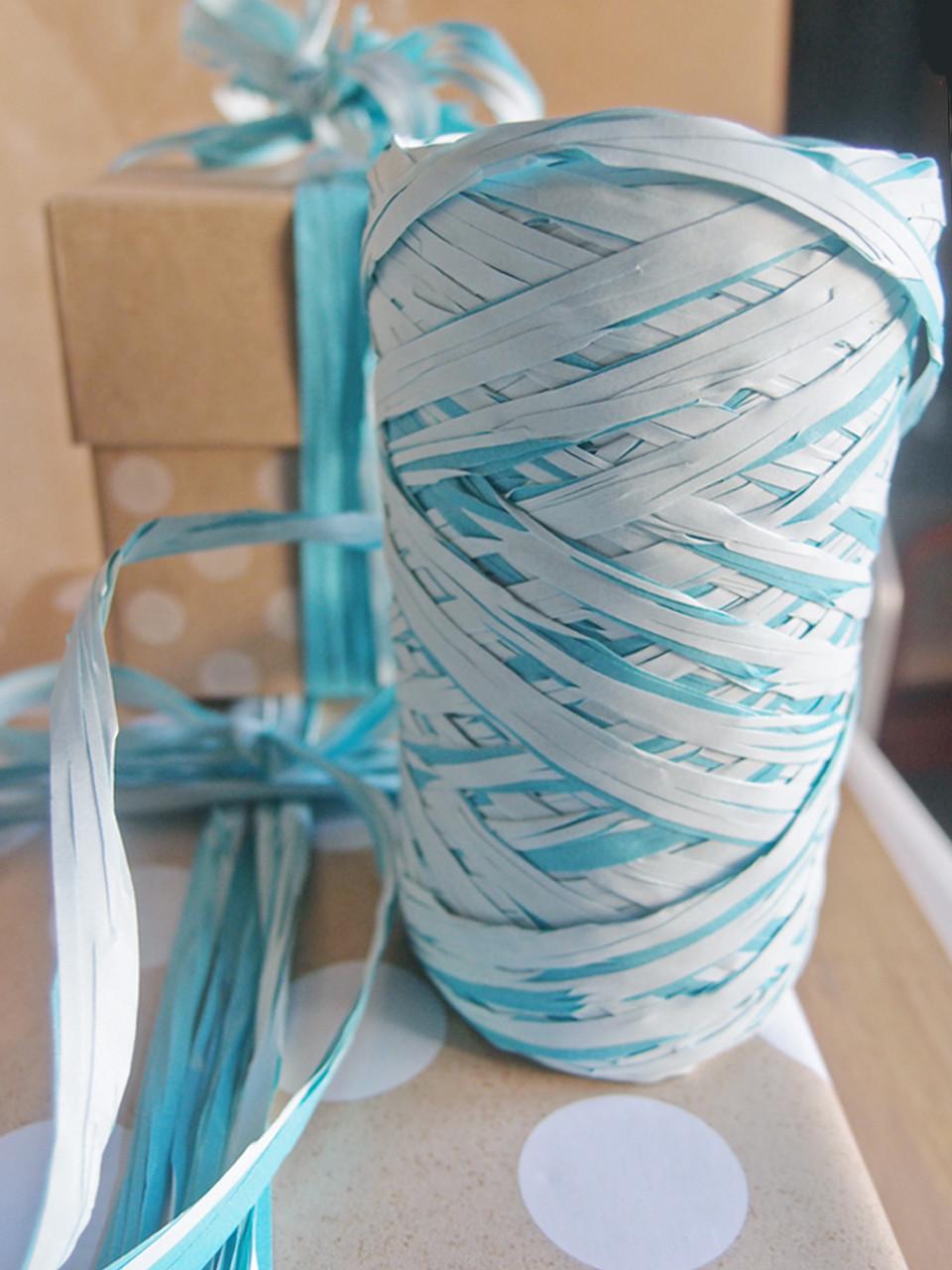Upscale Raffia Light Blue