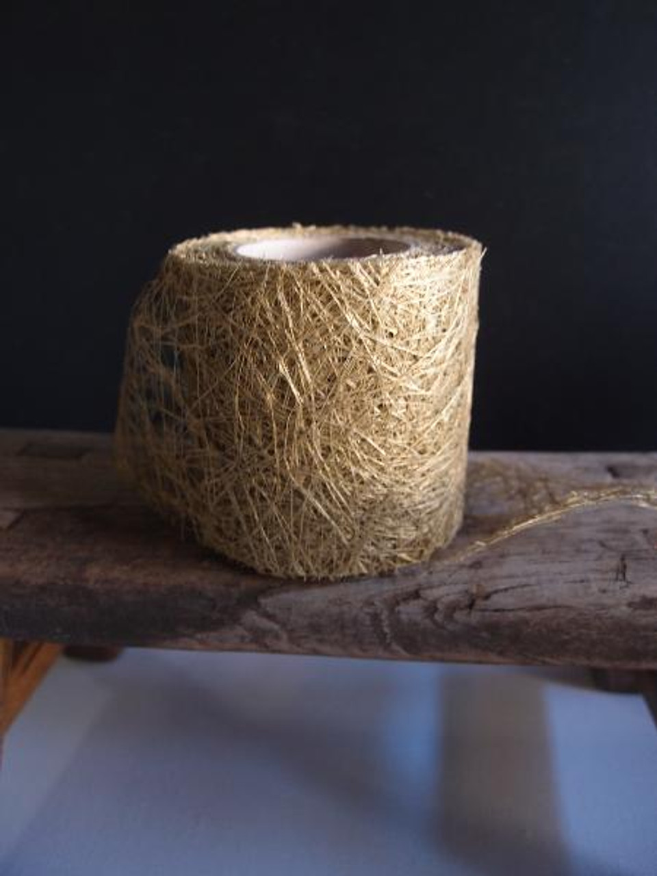 "Metallic Gold Faux Sisal Roll 2.5"""