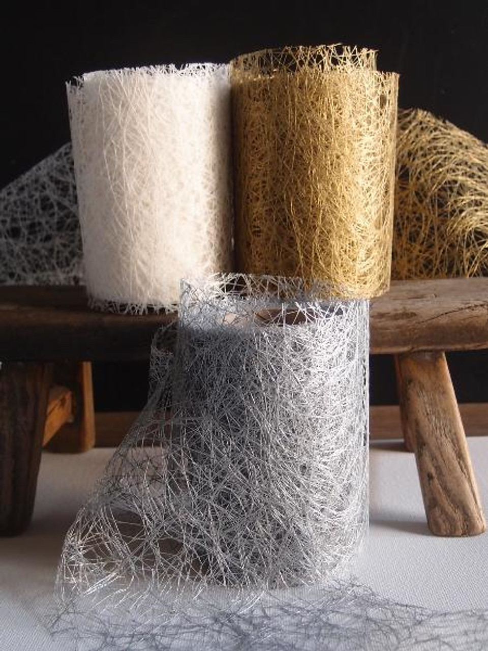 Metallic Gold Faux Sisal Roll 4""
