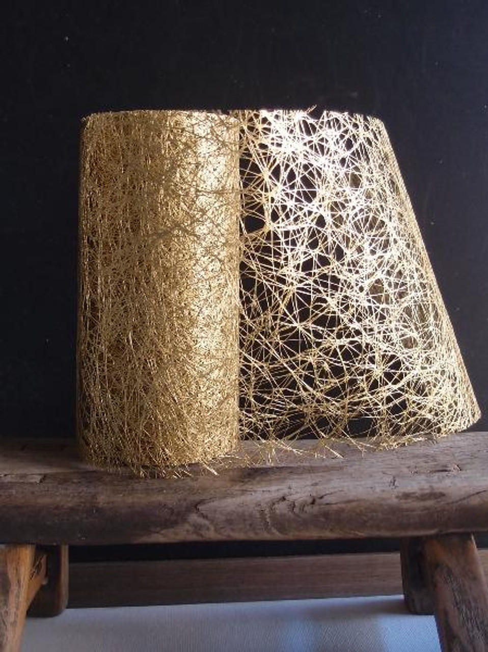 Metallic Gold Faux Sisal Roll 6""