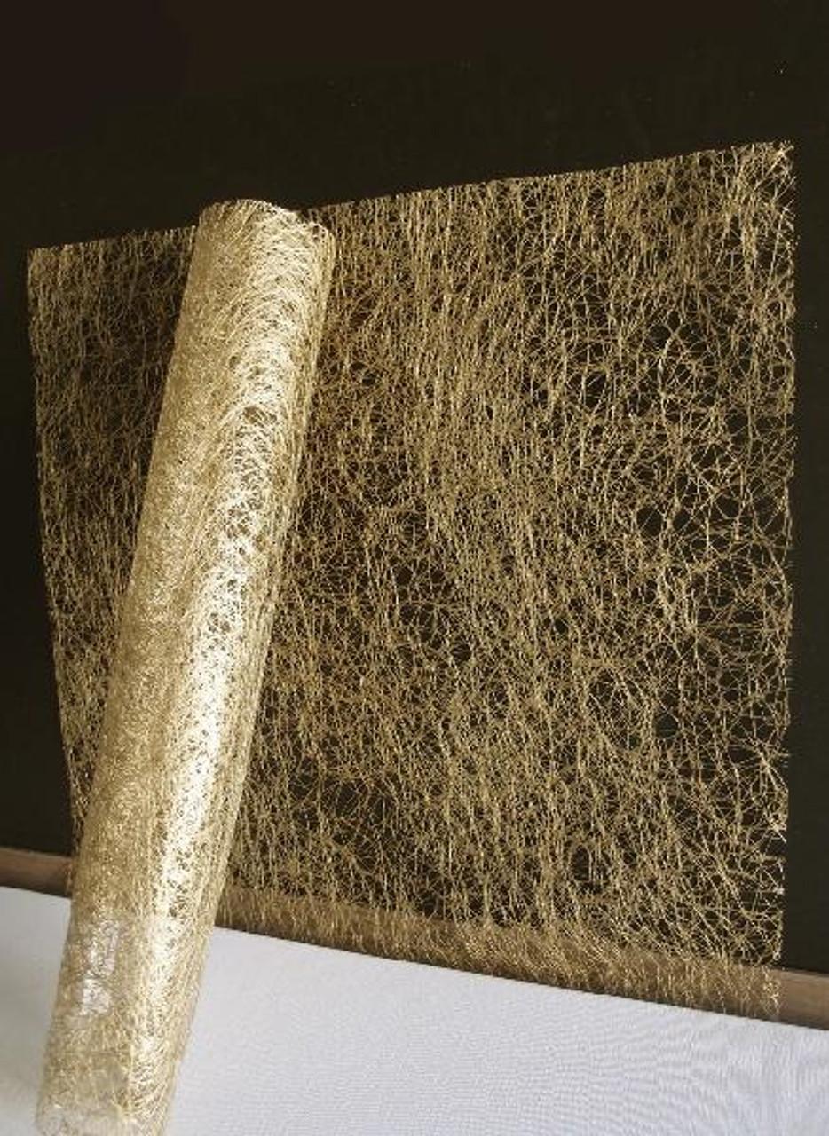 "Metallic Gold Faux Sisal Sheets 20"" x 20"""