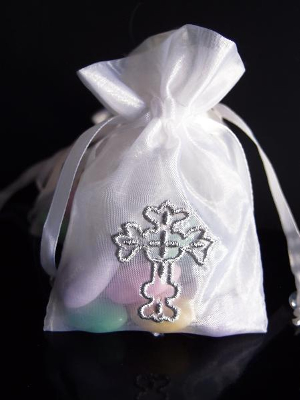 White Bag with Silver Cross