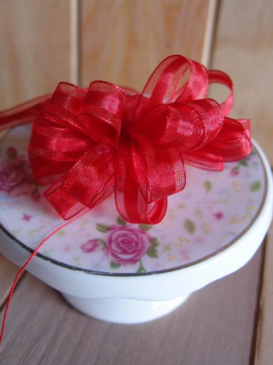 Red Pull Bow Ribbon