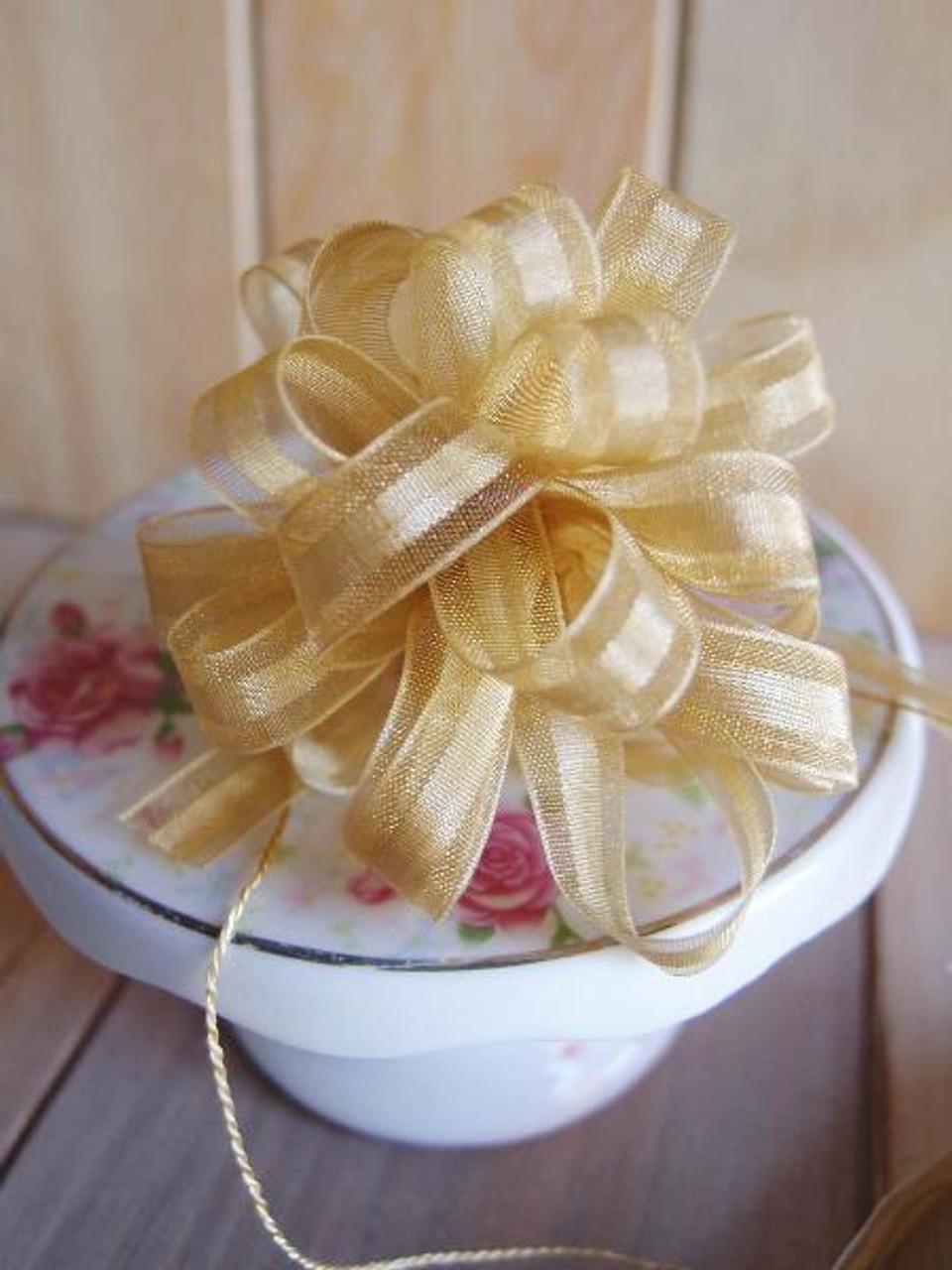 Gold Pull Bow Ribbon