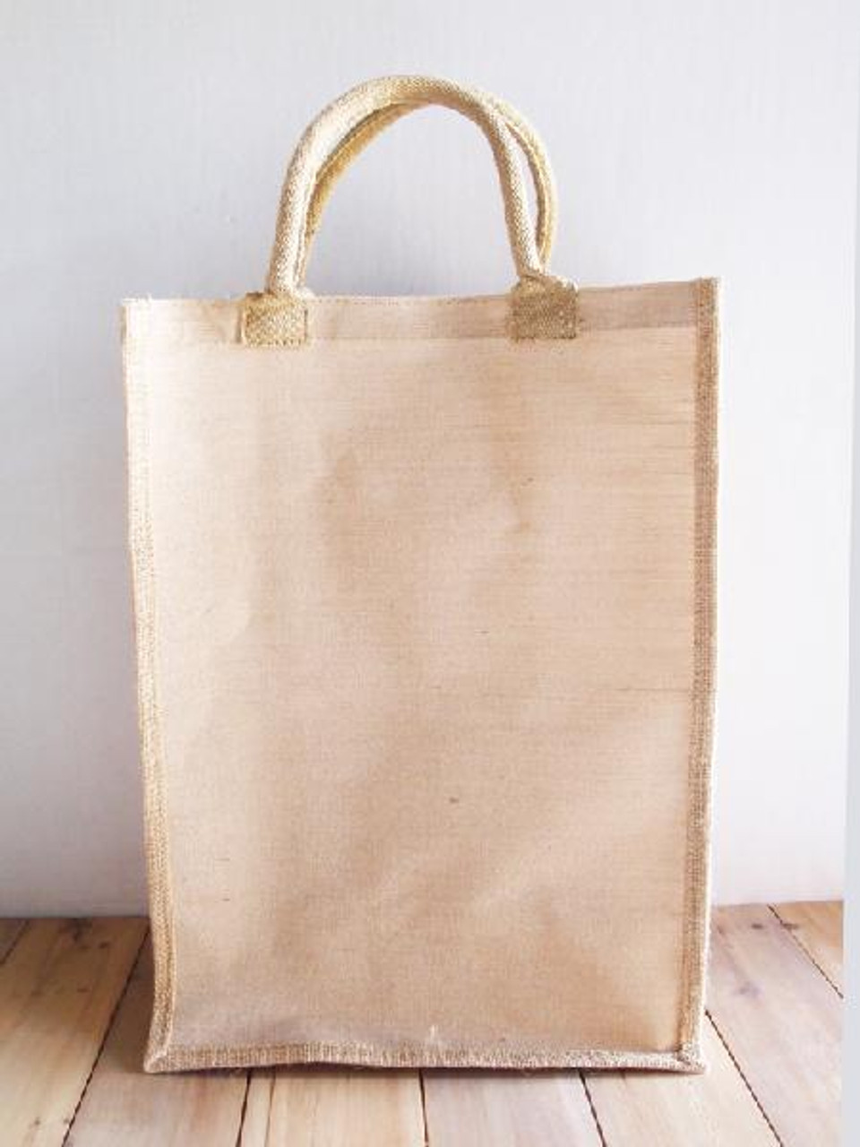 """Jute Blend Tall Tote 13"""" W x 18"""" H x 8"""" Gusset B909-21, Wholesale Tote Bags 
