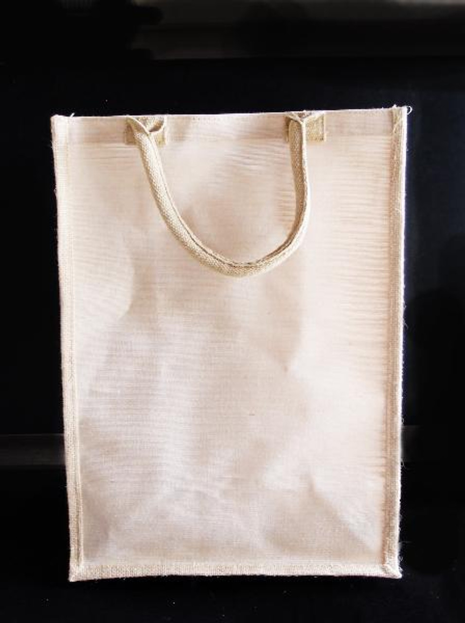 "Jute Blend Tall Tote  13"" W x 18"" H x 8"" Gusset"