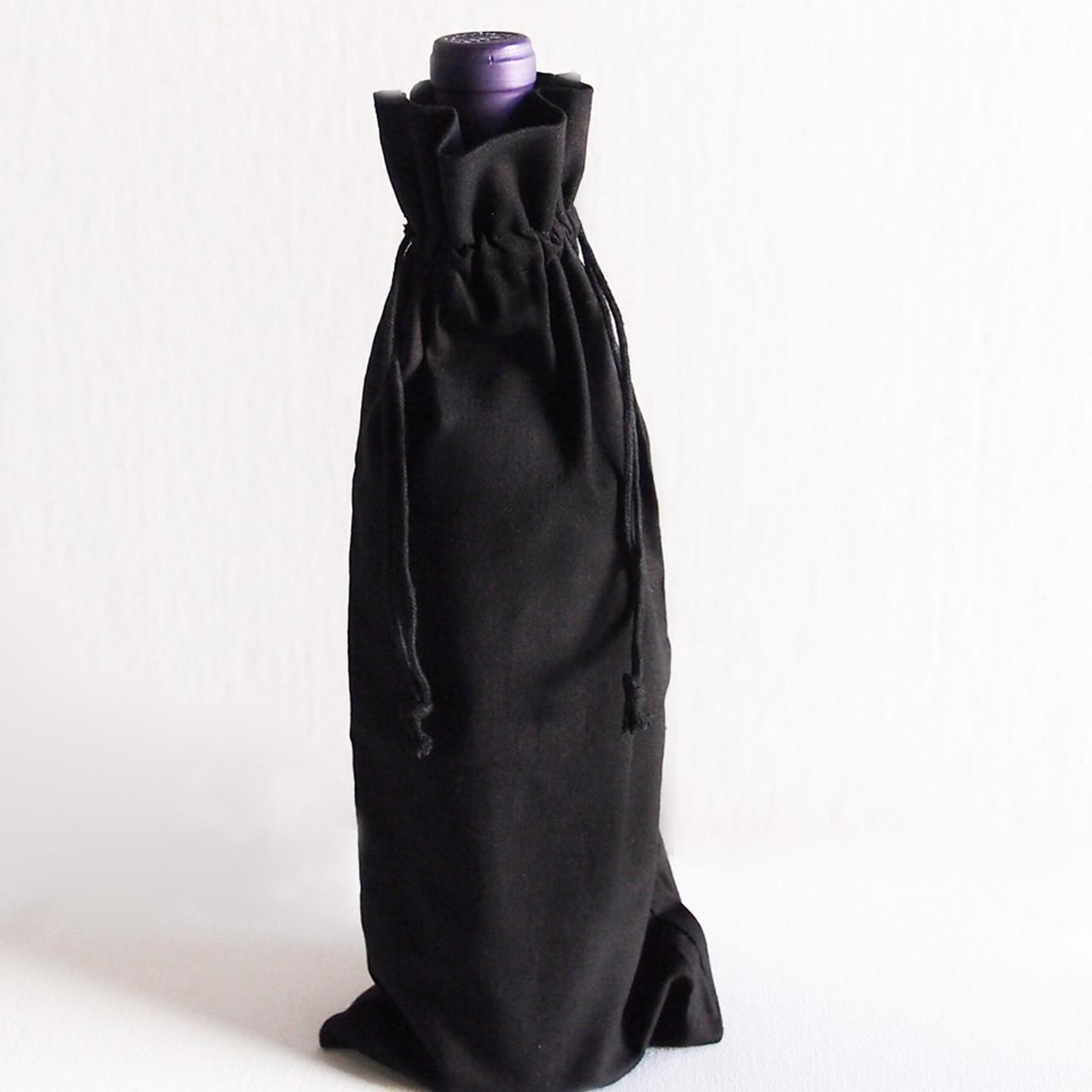 Black Cotton Drawstring Bags 8 x 10 inches, Wholesale Black Drawstring Bags | Packaging Decor