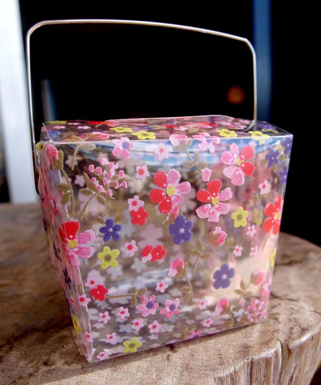 """2 3/4""""x2""""x2 1/2"""" Takeout Box-Pink Floral"""