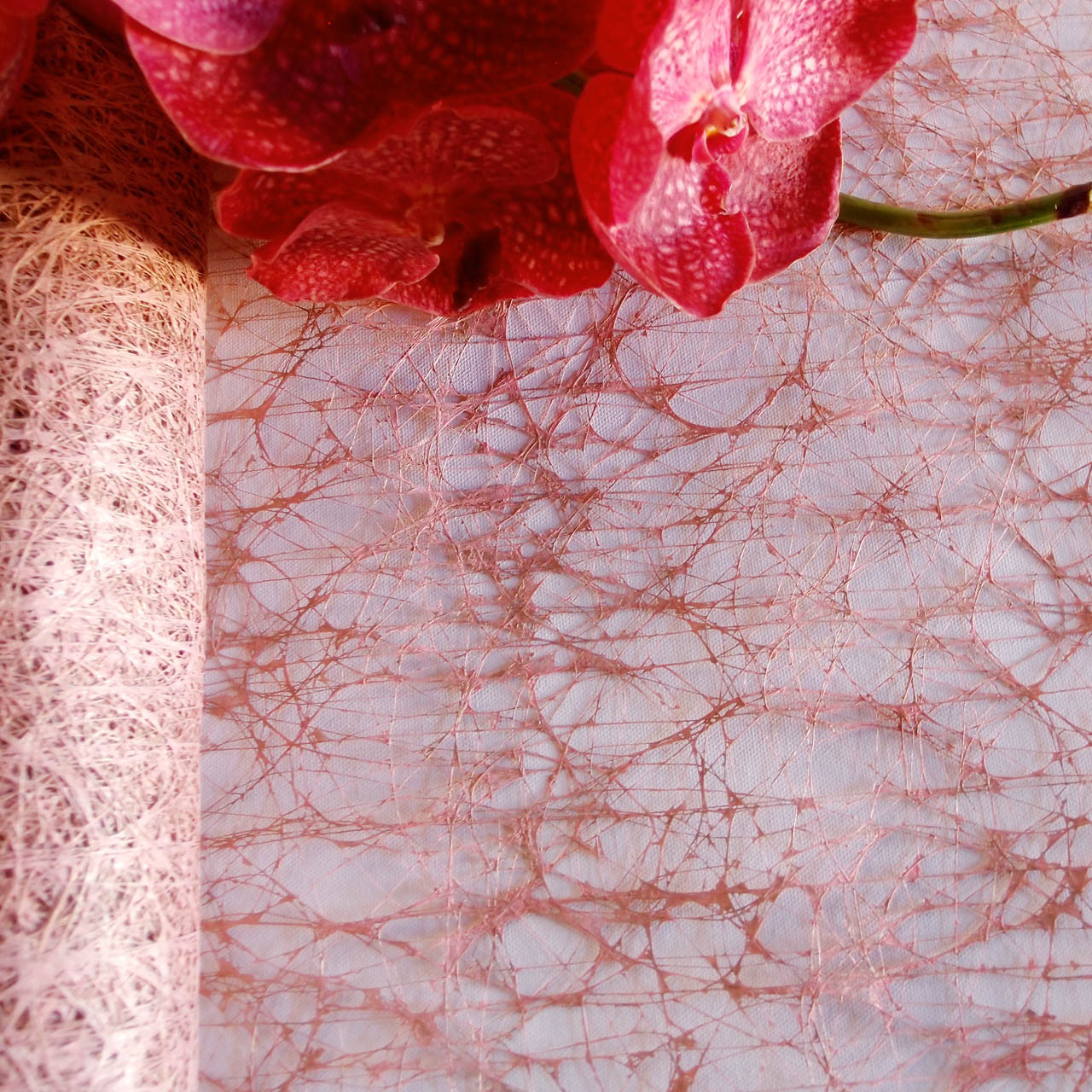 "Rose Gold Rustic Faux Sisal 20"" x 10Y"