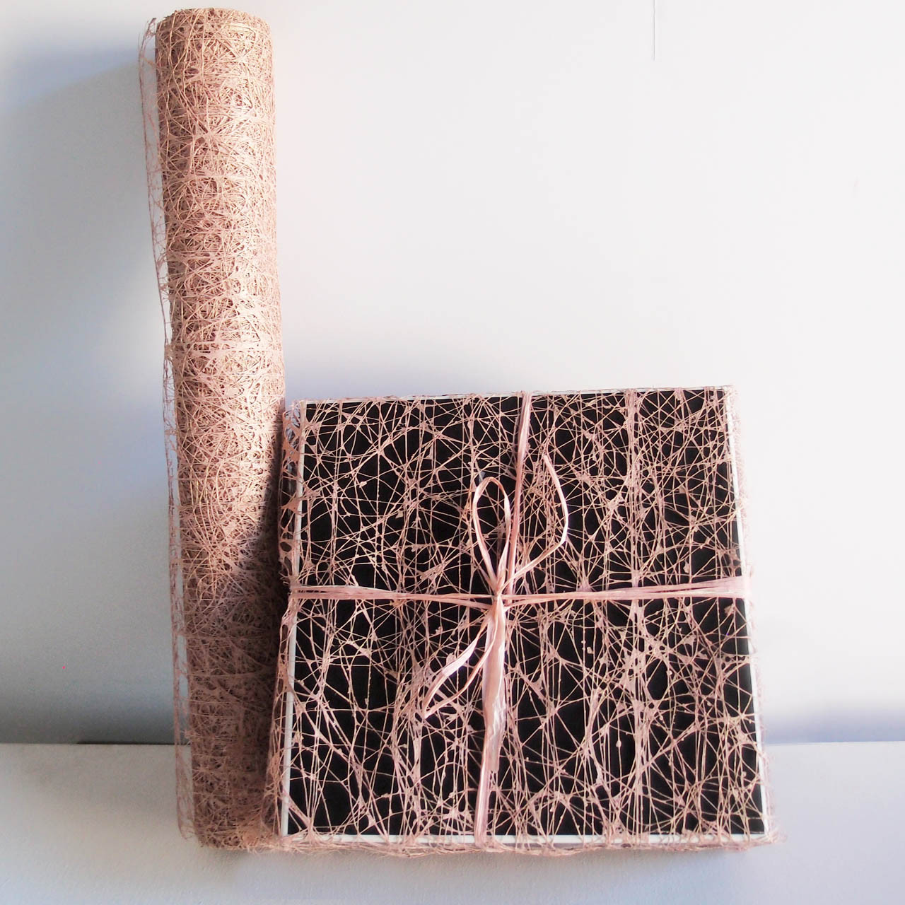 Rose Gold Faux Sisal Fiber Wrap