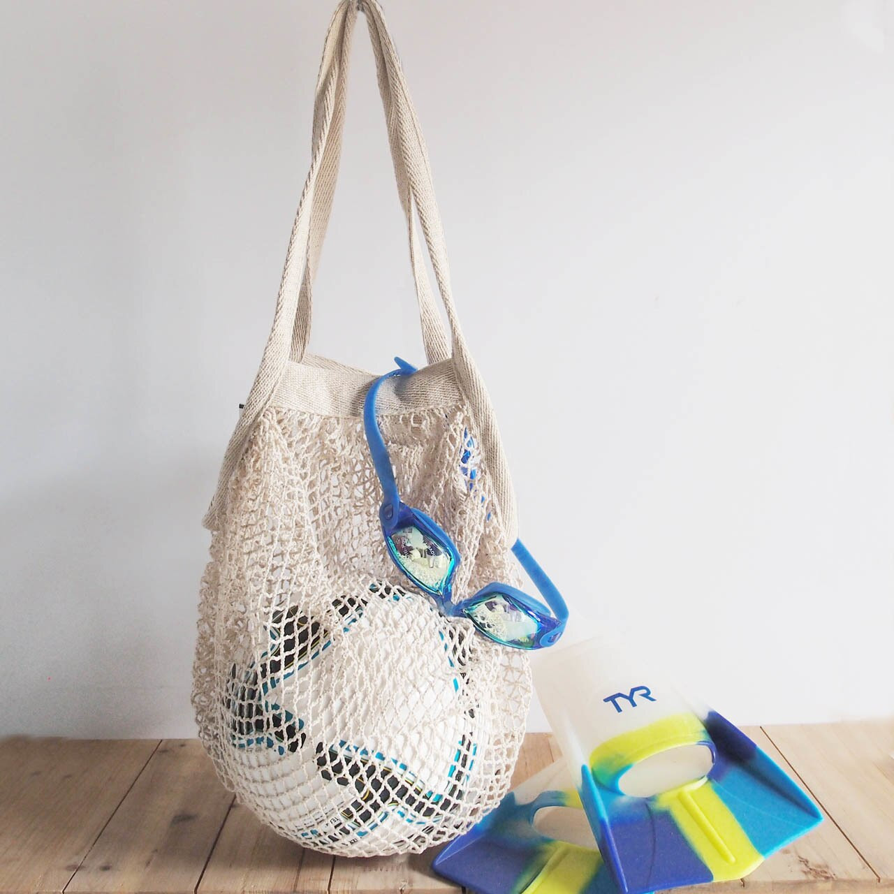 Wholesale Cotton Net Bags, Organic Cotton Produce Bags, Organic Cotton Mesh Market Tote B700-02 | Packaging Decor