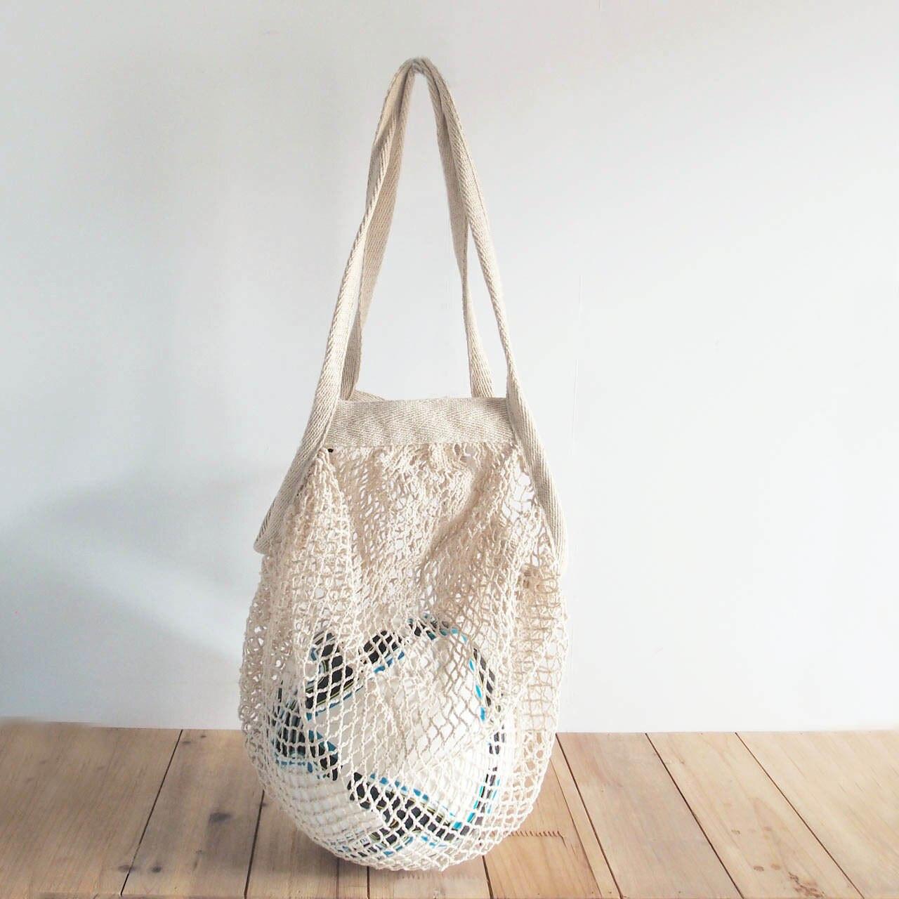 Cotton Mesh Tote Bags, Organic Cotton Market Tote Bags, Reusable Cotton Mesh Bags  | Packaging Decor