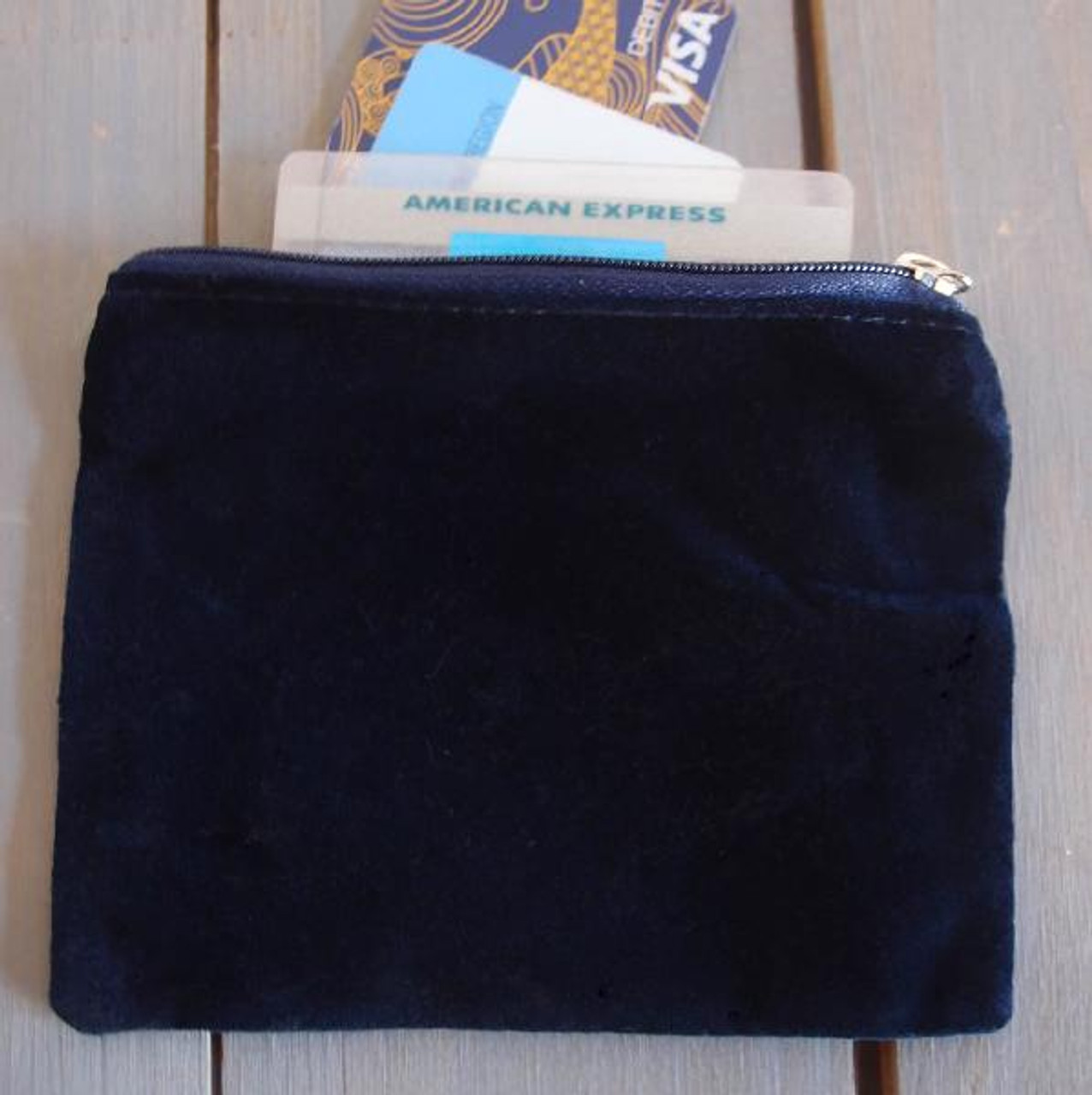Blue Velvet with Blue Zippered Bag (3 sizes)