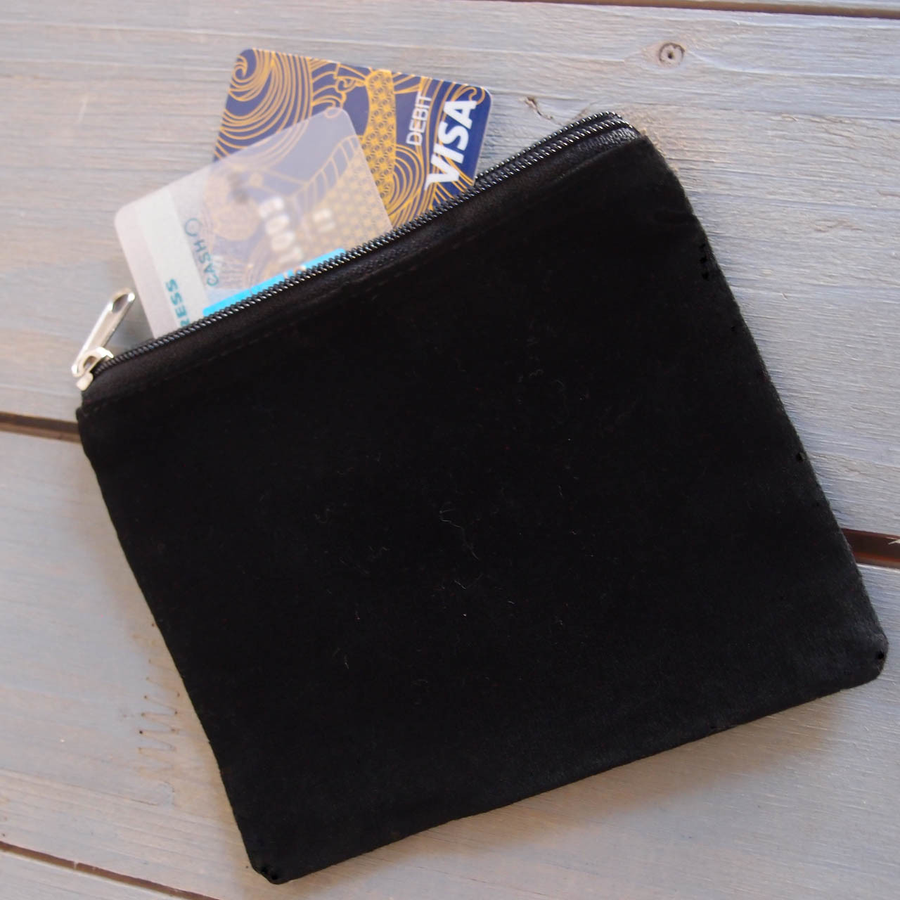 Black Velvet with Black Zippered Bag (3 sizes)