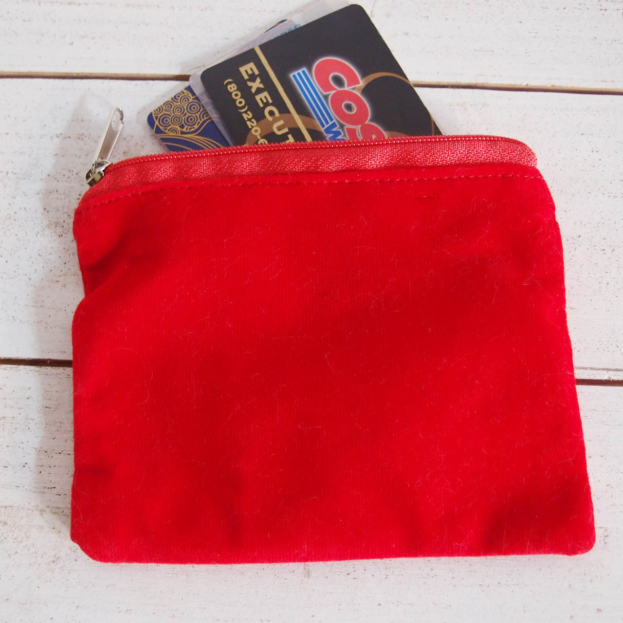 Red Velvet with Red Zippered Bag (3 sizes)