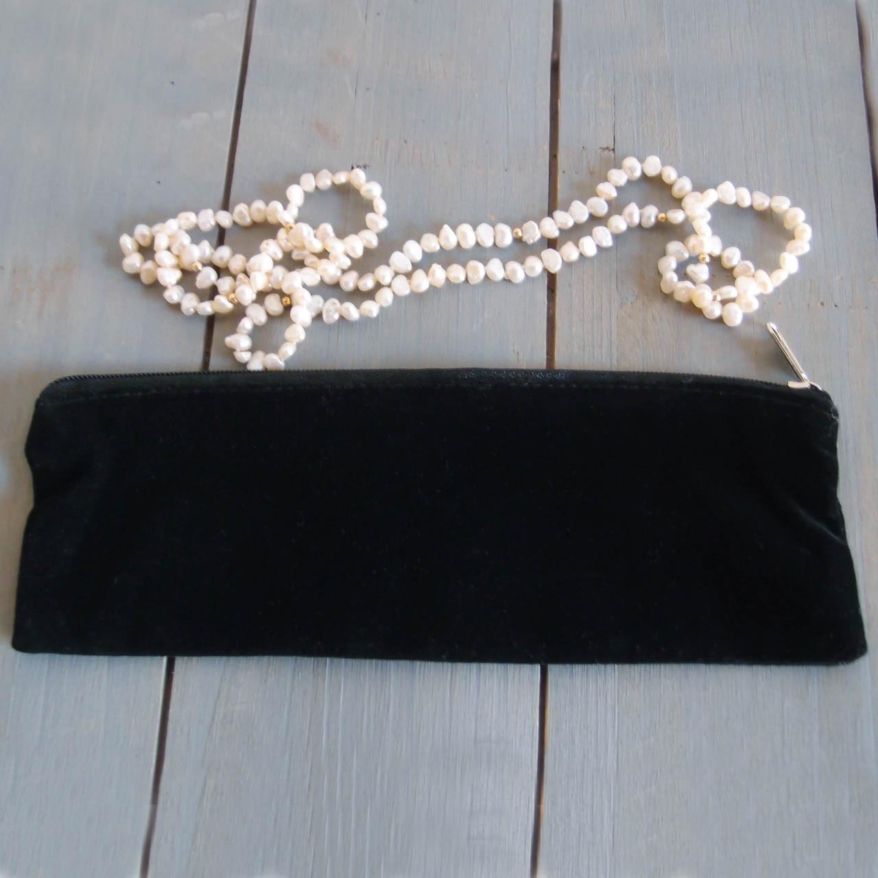Black Long Velvet with Black Zippered Bag (2 sizes)