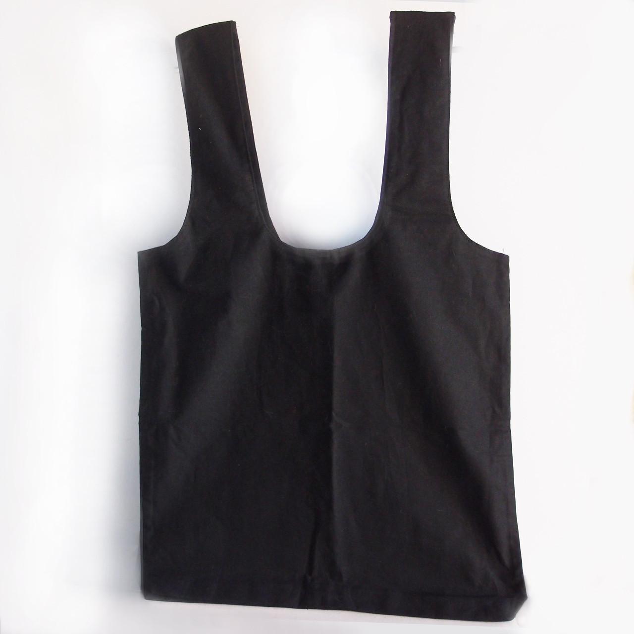 """Black Cotton Tote Bags 19""""W x 17"""" H x 2"""" Gusset"""