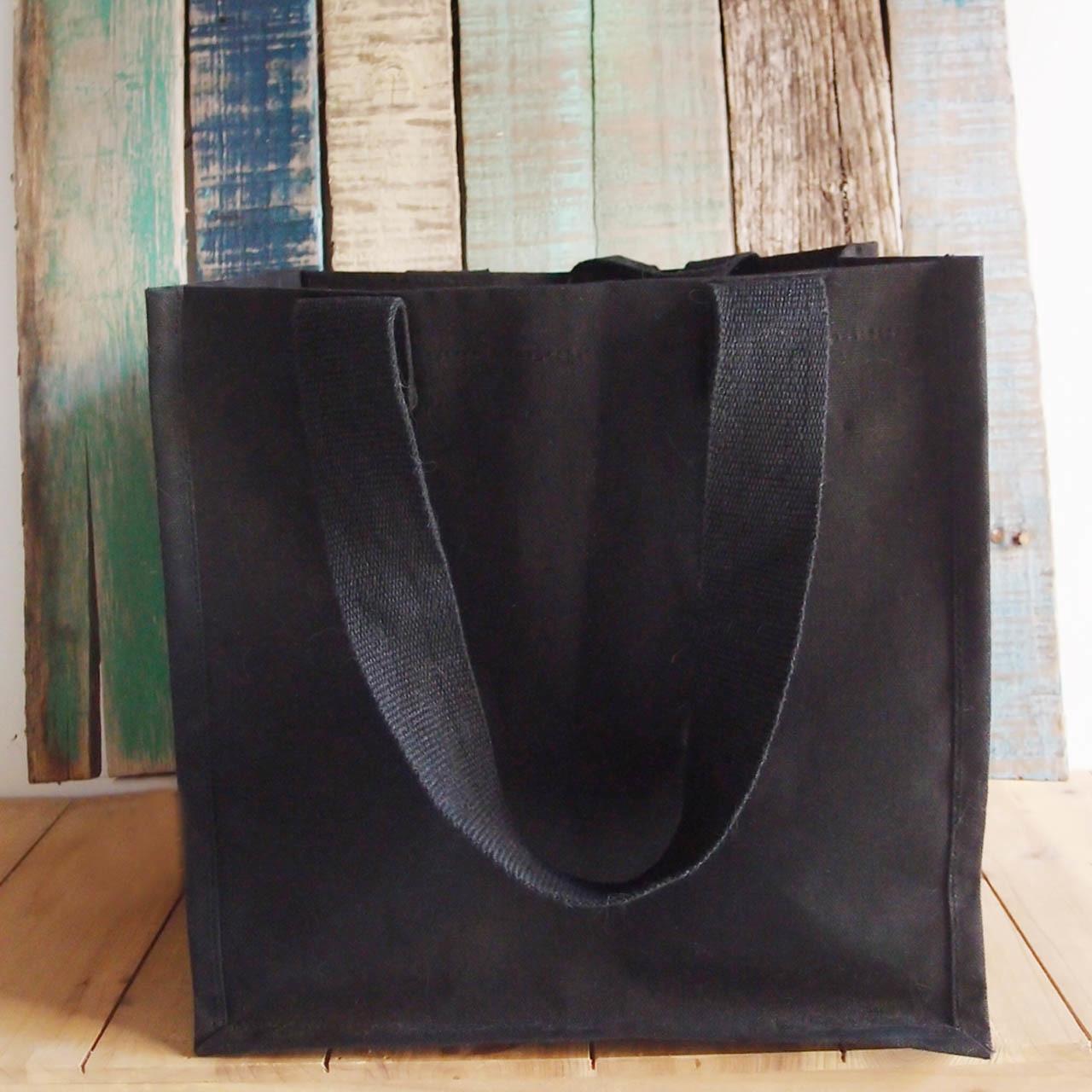 Large Canvas Tote Bags Black, Wholesale Black Canvas Tote Bags, Wholesale Cotton Bags | Packaging Decor