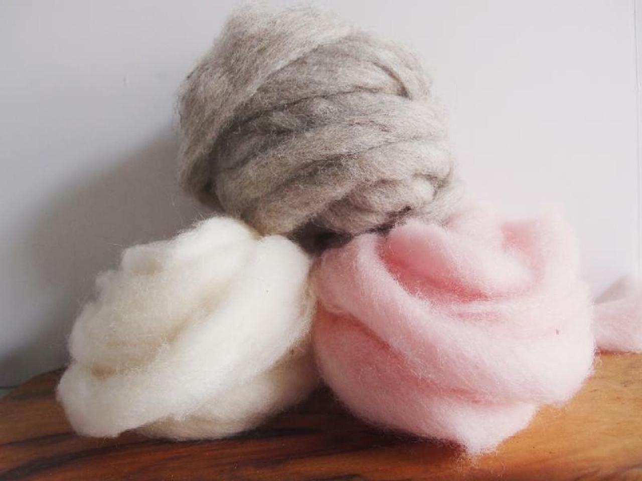 Wholesale White Wool Roving Fiber Pack. Also available, Pink Wool Roving Fiber Pack and Gray Wool Roving Fiber Pack   Packaging Decor