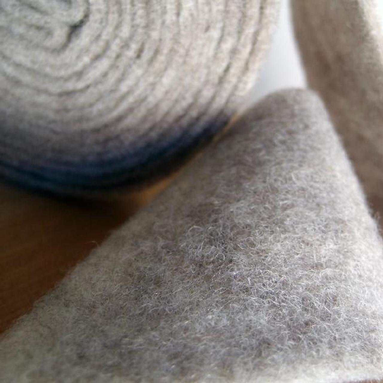 Gray Pure Wool Felt Ribbon (2 sizes)